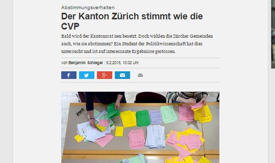 Der Kanton Zürich stimmt wie die CVP