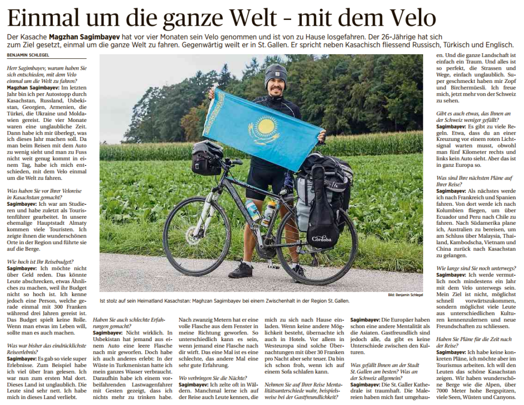 One Time around the whole world – by bicycle (Deutsch)