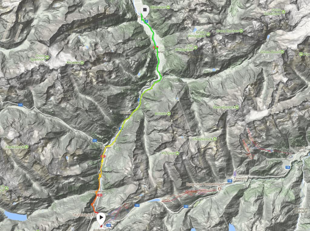 Andermatt Erstfeld on the trail of the devil Benjamin Schlegel