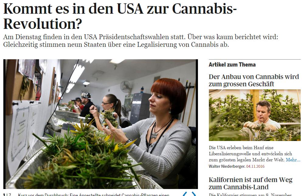 Kommt es in den USA zur Cannabis-Revolution?