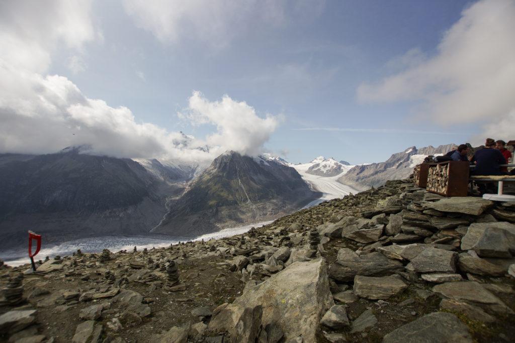 Blick auf Aletsch Gletscher