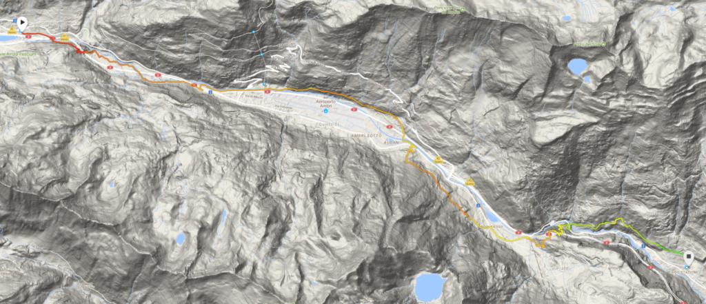Karte Airolo - Faido