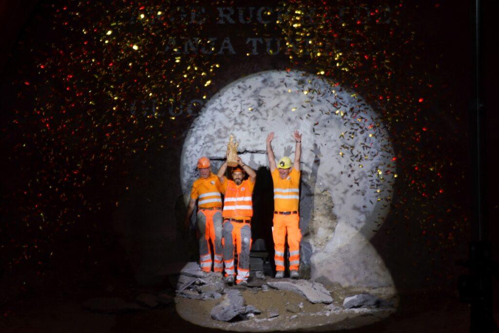 Tunnel Breakthrough Ruckhalden St. Gallen