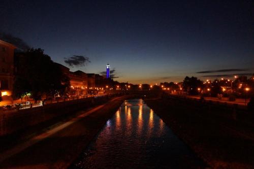 Ostrava bei Nacht